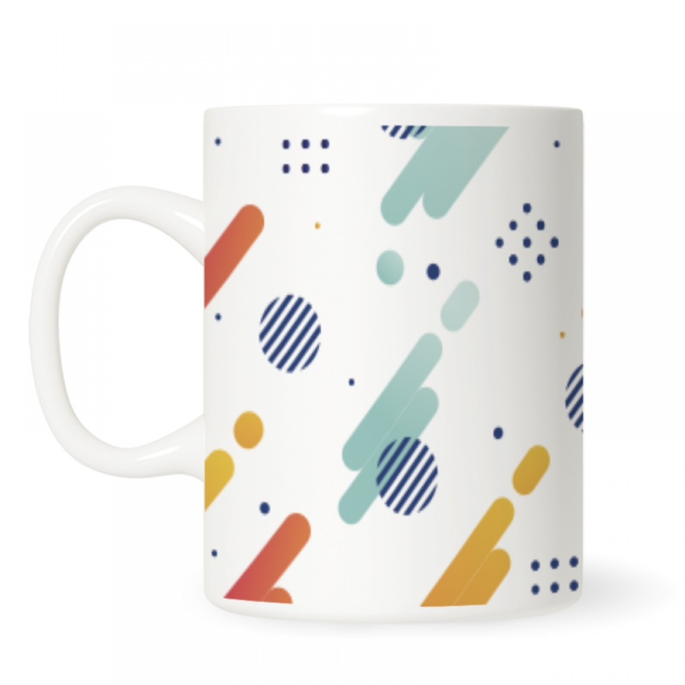 Abstract With Geometric Style Mugs