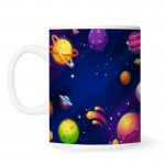 Galaxy Background With Colorful Planets Mugs