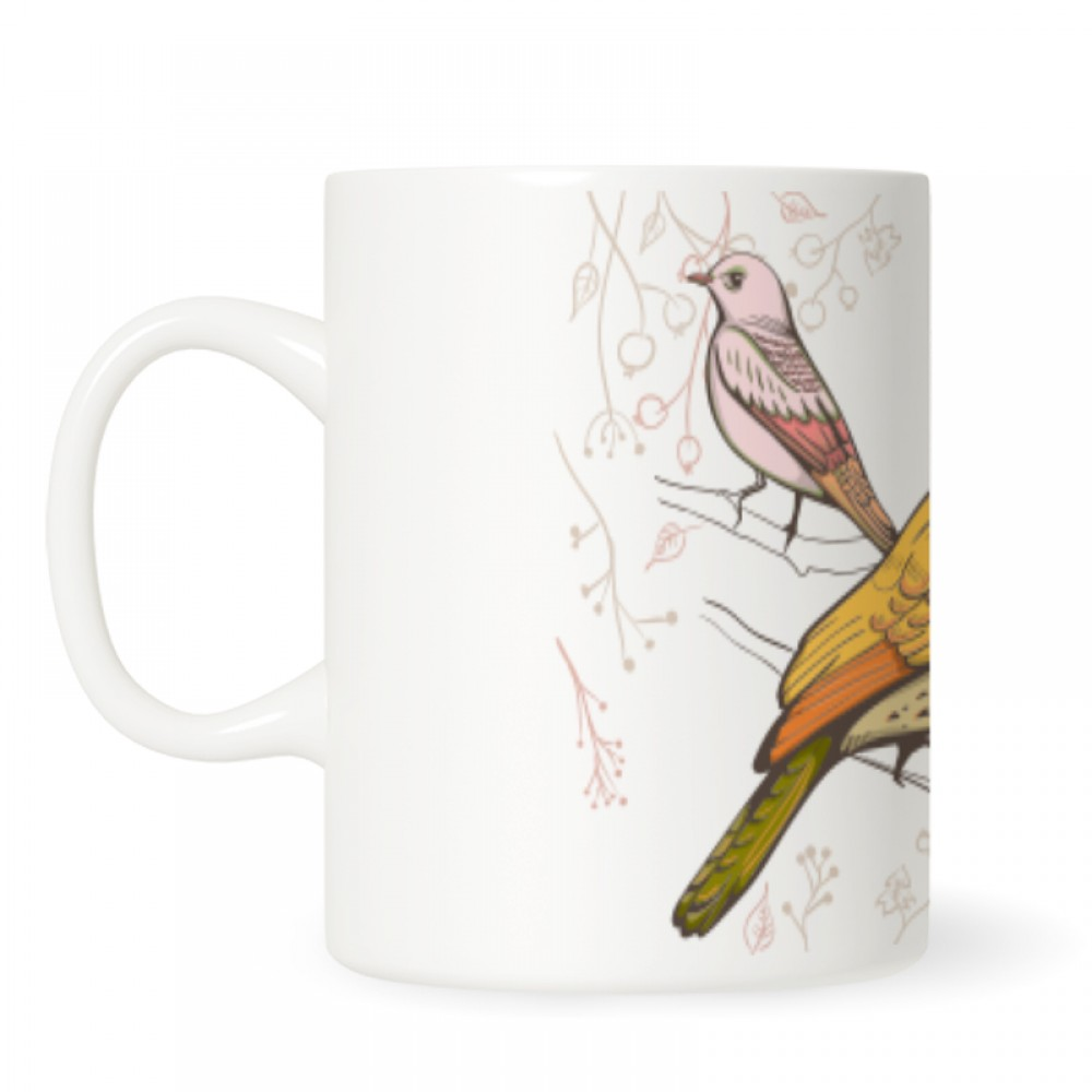 illustration of Bird Handmade Mugs Design